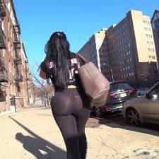 Street voyeur gets closer to big butt