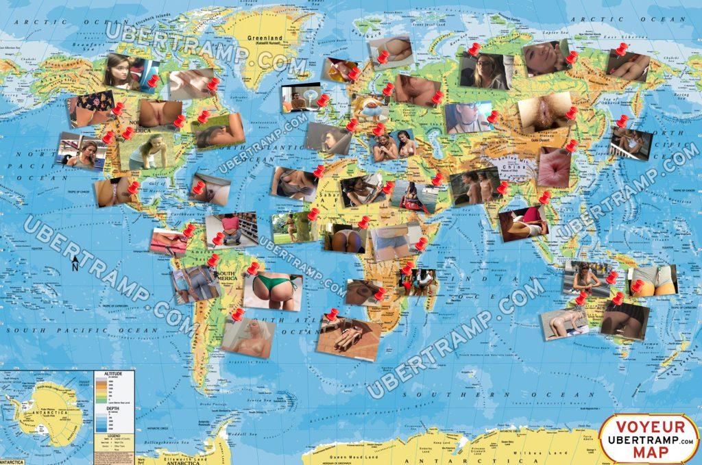 Voyeur map of the world