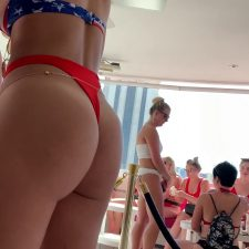 Adorable bubble butt with tan line