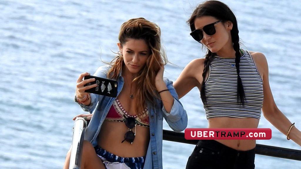 Hot instagram models pose for a photo together